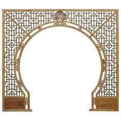 Chinese Arch-Shaped Wooden Panels - Set of 3 ($4,800) ❤ liked on Polyvore featuring home, home decor, screens & room dividers and handmade home decor