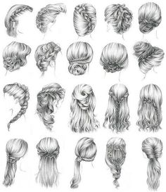 1633 Best Drawing Hair Hairstyles Images In 2019