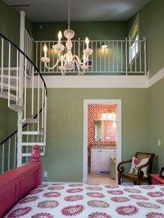 A two story bedroom!