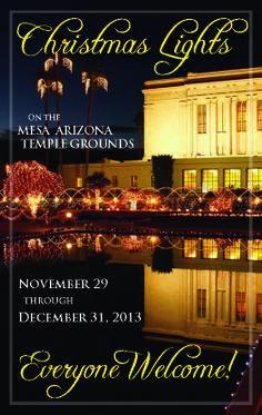Christmas Lights on the Mesa Arizona Temple Grounds | The Church of Jesus Christ of Latter-day Saints