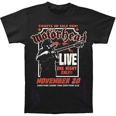 Motorhead Lemmy Fire Power Hombre Black T-Shirt