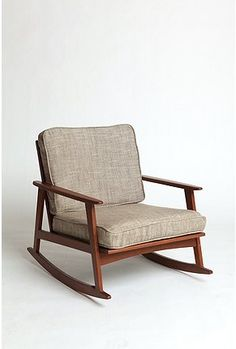 mid-century rocking chairs for living room, only $199 (I've heard these have a small footprint but are super comfy)