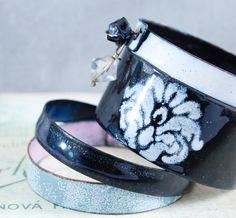 COCO  enameled bangles set by OYRZANOWSKA on Etsy