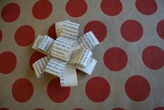 paper bows made from book pages