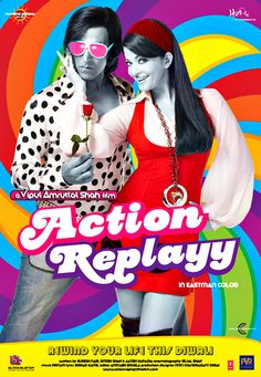 Action Replayy is a science fiction romantic comedy film directed by Vipul Shah and starring Akshay Kumar and Aishwarya Rai in the lead roles. The film was released on November 2010 Bollywood Movie Songs, Bollywood Posters, Bollywood Cinema, Bollywood Actress, Film Movie, Hd Movies, Movies Online, Comedy Film, Hindi Movie