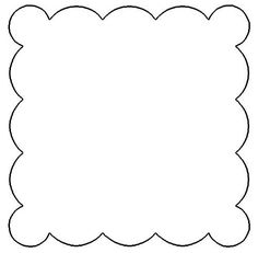 9 Best Images of Printable Template For Scalloped Border - Free Scalloped Square Template, Scalloped Circle Clip Art and Scalloped Circle Templates Printable Free Border Templates, Circle Template, Shape Templates, Templates Printable Free, Banner Template, Design Templates, Penny Rug Patterns, Wool Applique Patterns, Silhouette Cameo