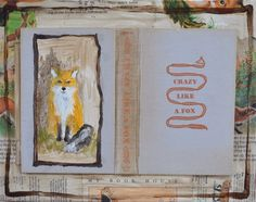 Fox painting red fox art book art with vintage illustrations oil painting woods Forrest cotton on Etsy, $145.00