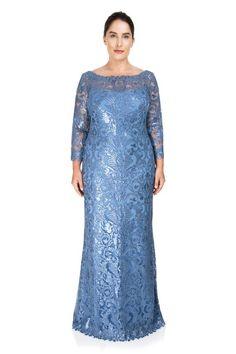 6b843e2c1 Casablanca Gown - PLUS SIZE. Vestido LindoTallas GrandesModa FemininaSuegra MadrinasComprarTadashi ShojiEscote De ...