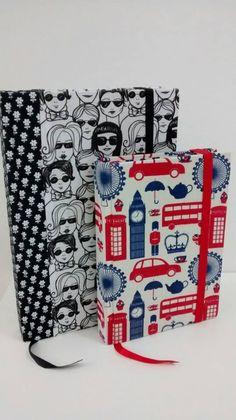 Moleskines feitos pela artesã Larissa Amorim com Fabricart www.facebook.com/larissaamorimatelie