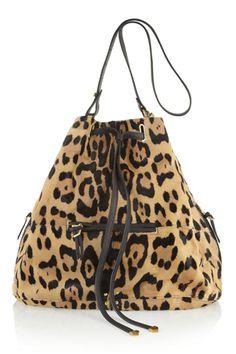 The Bucket Bag ~ Jérôme Dreyfuss Alain Calf Hair Bucket Bag Motif Leopard, Leopard Bag, Cheetah, Leopard Prints, Valentino Rockstud, It Bag, Fendi, Animal Print Fashion, Outfit