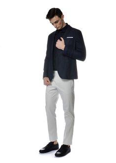Michel Brisson - Spring Summer 2015 - Menswear // Neil Barrett blazer, shirt, trousers - Saint Laurent Paris shoes