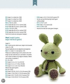 2e pagina Patroon Wasabi het konijn