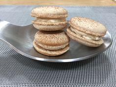macarons rellenos de crema de manzana caramelizada