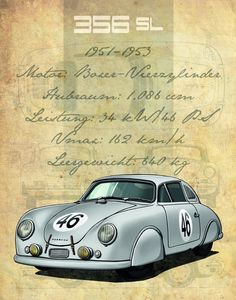 Every show lives from and with its main players – this is the same with the Porsche Museum. We present twelve heroes on wheels online. Porsche 356a, Porsche Cars, Volkswagen, Porsche Factory, Porsche Carrera Gt, Ferdinand Porsche, Vintage Porsche, Car Illustration, Car Posters