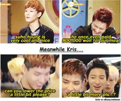The difference between $uho and Kris | allkpop Meme Center