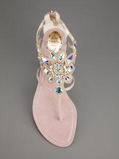 Rene Caovilla Embellished Cut-Out Sandal