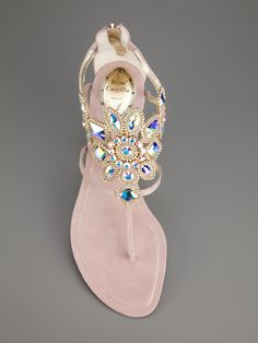 Rene Caovilla Embellished Cut-Out Sandal