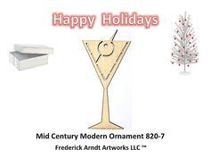 Mid Century Modern Ornament 8207 by FredArndtArtworks on Etsy, $14.95