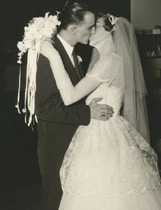 """You may now kiss the bride"", c. 1950s."
