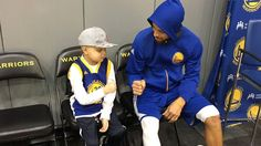 Instant Awesome: Steph Curry reconnects with young fan Brody after visiting him at the hospital