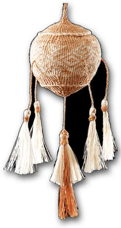 Traditional Māori Poi Tāniko performance instruments by master weaver Karl Leonard. These intricate works are woven using natural plants from New Zealand forests and waterways. Finger Weaving, Weave, Baskets, Boxes, Dreams, Wool, Gift, Cotton, Products