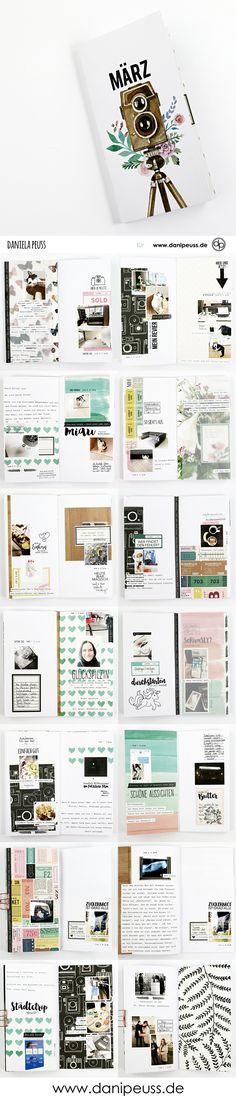 """das """" April 2018 danidori AddOn """" wunderschön gestaltet vielen Klartextstempeln und dem """"mehr Papier AddOn April 2018"""" von Daniela Peuss für www.danipeuss.de   #danipeuss #scrapbooking #memorykeeping #memorynotebook #klartextstempel"""