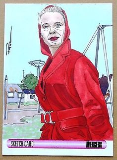 Women of the #avengers - paul cowan #sketch card 1st emma peel - #unstoppable,  View more on the LINK: 	http://www.zeppy.io/product/gb/2/142010168566/