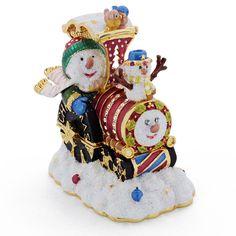 750f693b3 Snowman In Red Thomas The Train Christmas Trinket Box with Swarovski Crystal