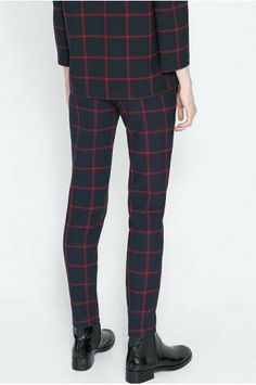 Fashion grid casual pant_Trousers