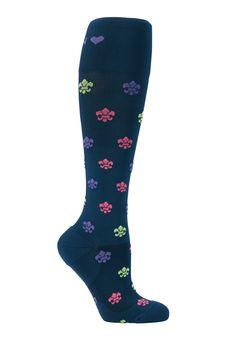 About The Nurse Fleur De Lis Compression Socks - Fleur De Lis print - 2X: Add style to your… #NursingScrubs #MedicalScrubs #DiscountScrubs