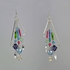Earrings by Harpstone Galleries. American Made. See the designer's work at the 2015 American Made Show, Washington DC. January 16-19, 2015. americanmadeshow.com #earrings, #jewelry, #americanmade