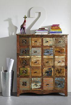 SPIRIT Komoda #60 Drewno z odzysku lakierowane - SPIRIT - Meble kolonialne 24