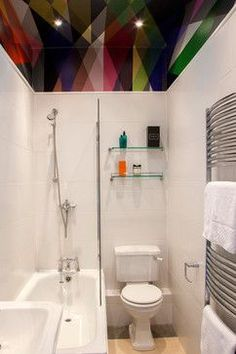 Love the ceiling......Edinburgh West End Apartment - contemporary - Bathroom - Scotland - Jenna McLaughlin