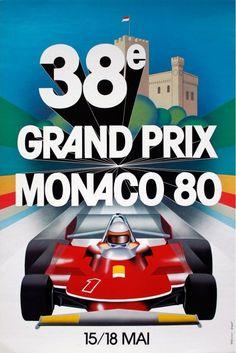 Affiche Grand Prix de Monaco 1980