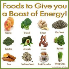 Foods for energy boosting!