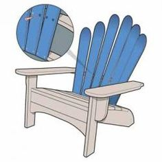 Adirondack chair made from old skis. A must have for my ski chalet.