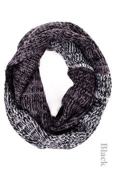 Two Tone Infinity Scarf. Available in black, navy, and pink! #May23Online
