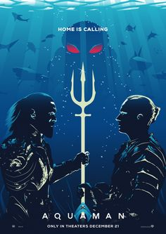 """All new DC Comics """"Aquaman"""" poster for Talenthouse creative brief. Movies And Series, Dc Movies, Superhero Poster, Superhero Movies, Aquaman Movie 2018, Badass Movie, Cinema, Black Panther Marvel, Batman Vs Superman"""