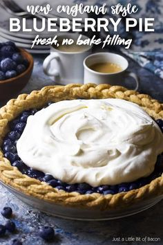 Jul 28, 2020 - Learn how to make the best Cape Cod style homemade blueberry pie! This one crust pie is no bake, SO easy, and bursting with fresh berries. Fresh Blueberry Pie, Homemade Blueberry Pie, Blueberry Pie Recipes, Fruit Recipes, Farmers Market Recipes, Summer Grilling Recipes, Cape Cod, Donut Cakes, Pie Dessert