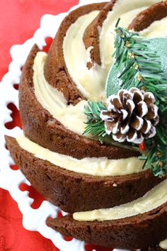 Gingerbread Bundt Cake Recipe - A moist, intensely spiced gingerbread cake, finished with a whiskey glaze.