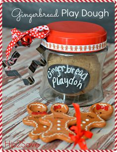 Homemade Gingerbread Play Dough via Hip2Save: It's Not Your Grandma's Coupon Site!