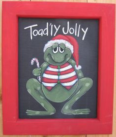 Tole Painting Pattern Toad'ly Jolly by barbsheartstrokes on Etsy,