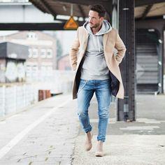 casual look hoodie homme