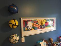 Suporte para bolas, organiza e decora.
