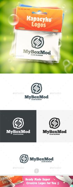 My Box Mod Logo Design Template Vector #logotype Download it here: http://graphicriver.net/item/my-box-mod-logo/14537745?s_rank=185?ref=nesto