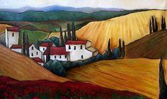 Italian Landscape ~ by Jennifer Yoswa