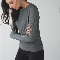 NWOT Lululemon crew love sweatshirt NWOT heathered black crew sweatshirt. Size 6, soft French terry. No rip tag, but guarantee it's a 6. I have this in multiple colors, so am downsizing. Comes with lulu bag. lululemon athletica Tops Sweatshirts & Hoodies