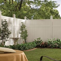 Ensure year-round privacy in your yard with an attractive, low maintenance privacy fence. A heavy-duty vinyl fence complements the overall aesthetic of your home's appearance.