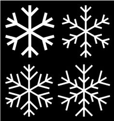 Snowflake templates for glitter snowflake ornaments.
