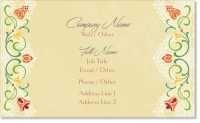 cream feminine Premium Business Cards